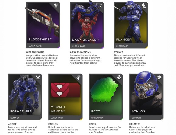 Halo 5: Guardians Req Cards.