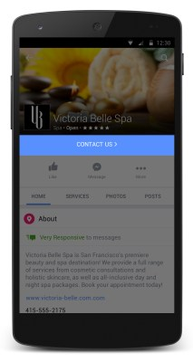 Facebook Pages -- updated call to action buttons