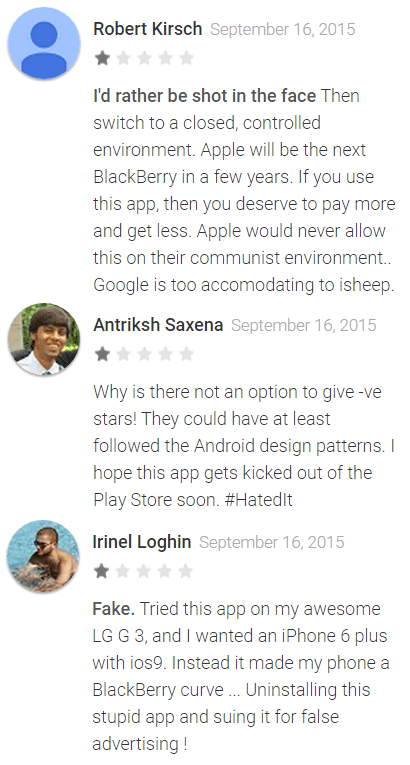 Apple s first android app move to ios is getting killed with one star reviews venturebeat