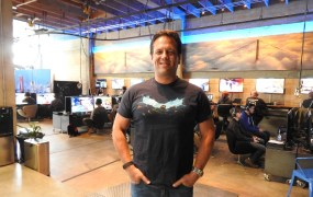 Phil Spencer, the head of Xbox, at Microsoft's Halo 5: Guardians preview event.