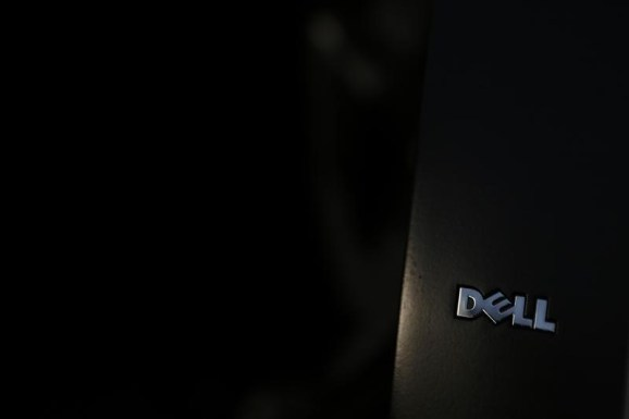 The logo of a Dell laptop computer is pictured in Pasadena, California July 17, 2013.