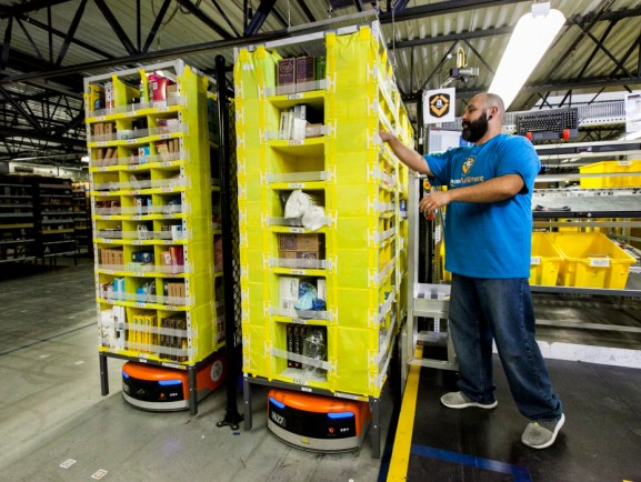 Kiva robots at Amazon.