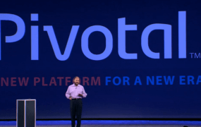 Paul Maritz, the former chief executive of Pivotal, talks about Pivotal at the EMC World conference in Las Vegas in 2013.