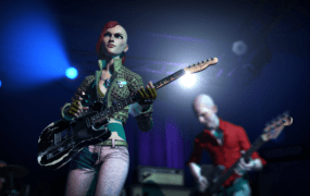 Rock Band 4's art style is an updated copy of previous games' look