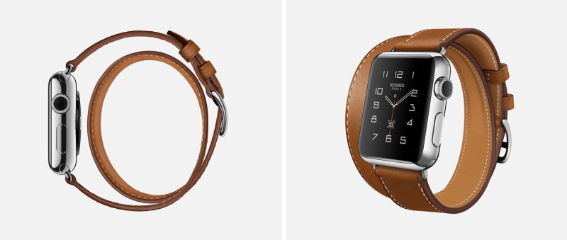 """The Apple Watch Hermes """"Double Tour"""" style."""