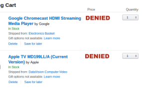 Apple and Google denied on Amazon