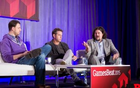 Greg Vederman of Twitch, Matt Wolf of Coca-Cola, and Jeff Grubb of GamesBeat at GamesBeat 2015.