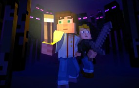 A screenshot from Minecraft Story Mode.