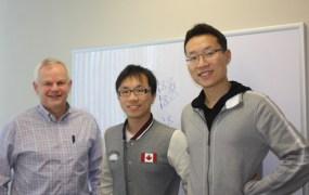 Flex Logix founders Geoff Tate, Fang-Li Yuan, and Cheng Wang.