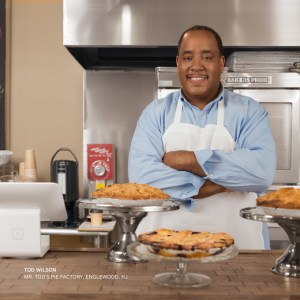 Tod Wilson, the owner of Mr. Tod's Pie Factory