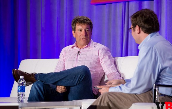 Peter Levin of Lionsgate and Ian Sherr of Cnet at GamesBeat 2015.