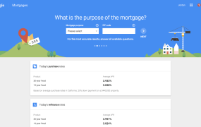 Google Compare for mortgages.