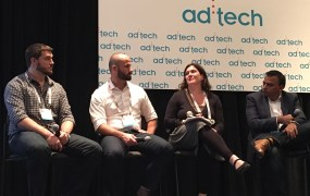 (left to right) Evan  Wray, co-founder and general manager, Swyft Media; Anthony Green, emerging partnerships lead, Kik; Anastasia Goodstein, VP of digital, Ad Council; Amit Shah, VP, online, mobile, social,  1-800-Flowers.com