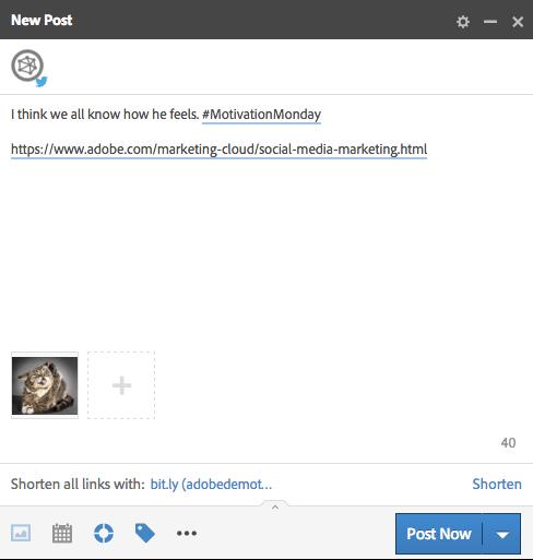 A screenshot of sharing photos with Adobe Social