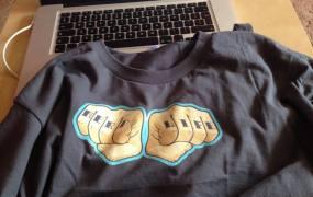 """A New Relic """"Nerd Life"""" T-shirt."""