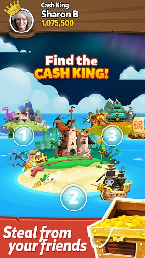 "Pirate Kings is a ""mingleplayer"" game, with elements of multiplayer and single player."