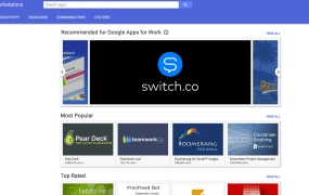 An app being shown under the new Recommended Google Apps for Work designation.