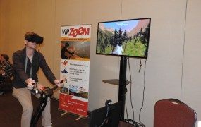 VirZoom gives you VR on an  exercise bike.