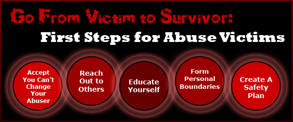 First Steps For Abuse Victims