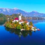 【Bled,Slovenia Drone4K スロベニア・ブレッド湖紅葉ドローン空撮】