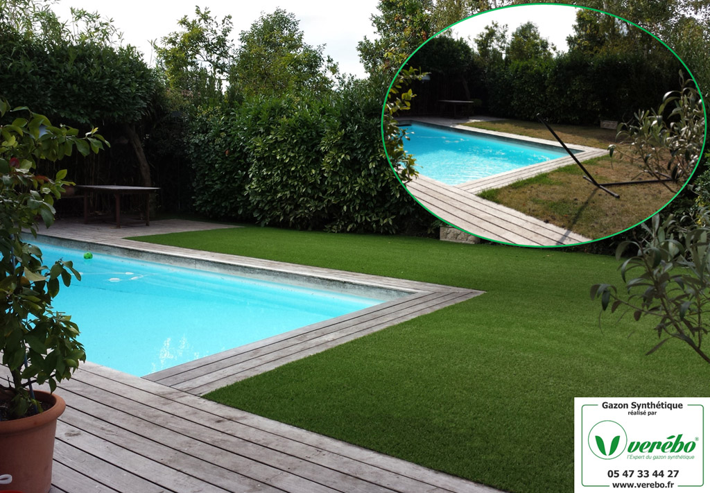 Gazon synth tique piscine bordeaux arcachon for Piscine merignac