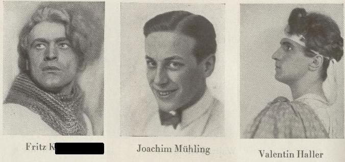 Fritz K., Joachim Mühling und Valentin Haller