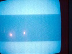 contour écran télé bleu