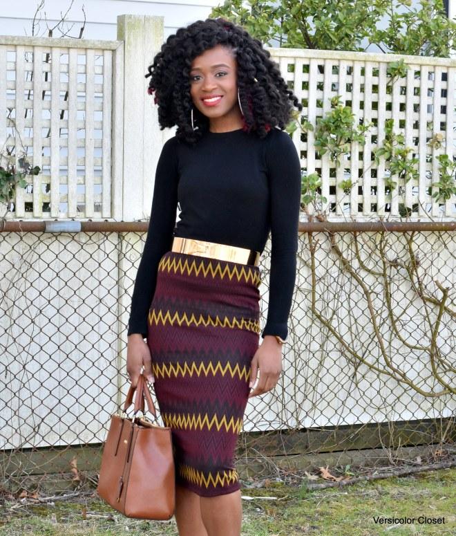 Chevron pencil skirt (7)