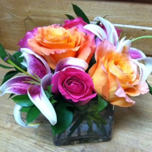 Stylish Lilies & Roses