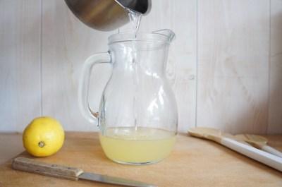 recette granité aux fruits - jus de citron et sirop de sucre