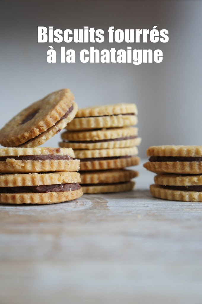 Biscuits fourrés à la chataigne