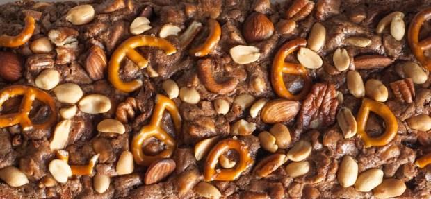 brownies aux noix vue dessus