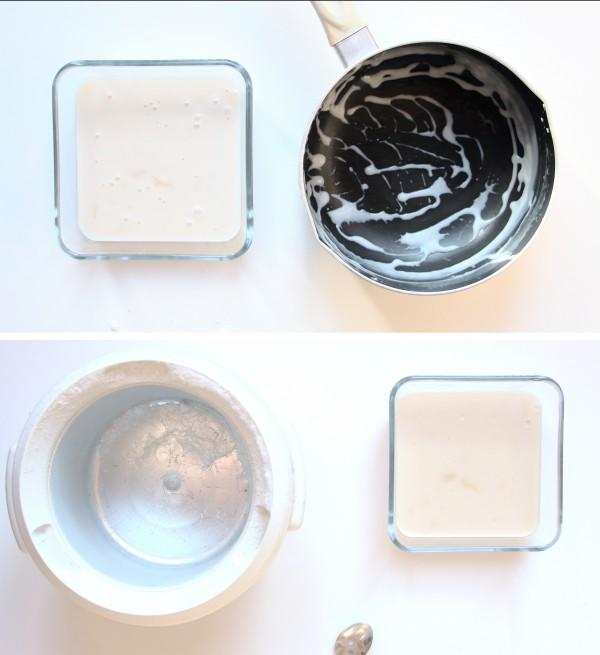 préparation recette glace lait de coco