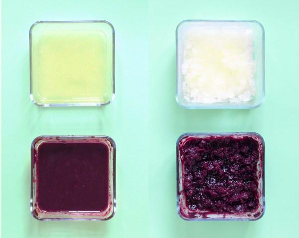 panna cotta vanille et granité myrtille et citron-