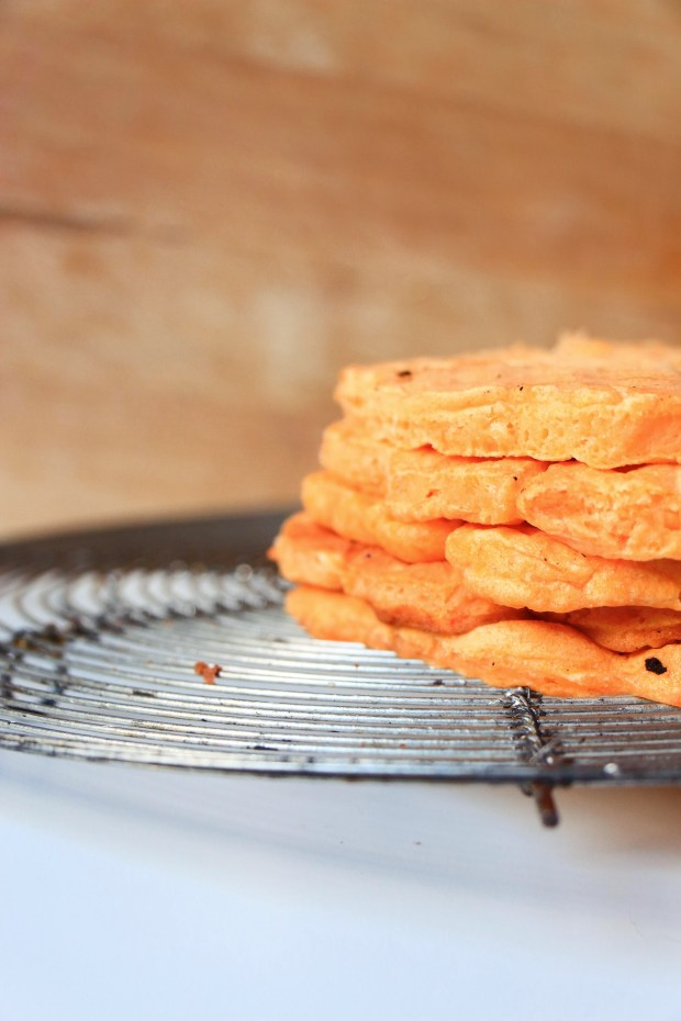 gaufres patates douces - sweet potatoes waffle