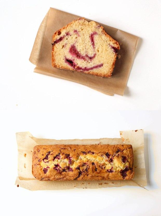 cake framboise - raspberry pound cake