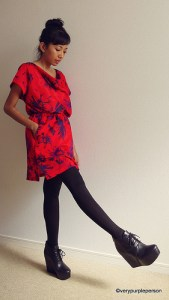 Red cowl dress (Vogue 2333: Diane Von Furstenberg)