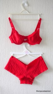 Red lace set