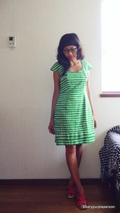 Green Pastille dress (The Colette Sewing Handbook)