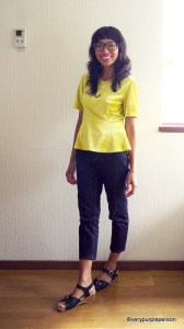 Jeans (Butterick 5682) and Peplum top (Vogue 8815)