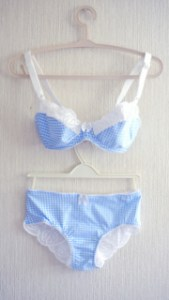 Baby blue gingham set