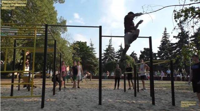 спортивная площадка в Никополе
