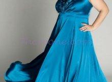 Vestidos de fiesta para gorditas color azul (7)
