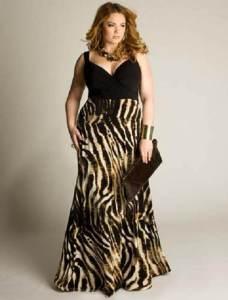 15 opciones de hermosos vestidos de fiesta para gorditas estampados (11)