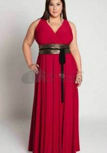 15 opciones de vestidos de fiesta para gorditas largos para Navidad (1)