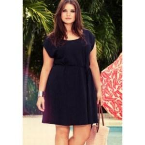 Vestidos de fiesta cortos para gorditas 2015 (14)