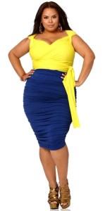 13 Hermosos vestidos de color para gorditas (1)