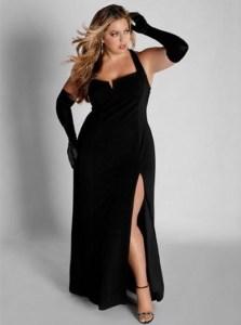 12 Vestidos de fiesta negros para mujeres gorditas (12)
