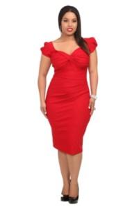 11 Bellos vestidos de fiesta para gorditas rojos (1)