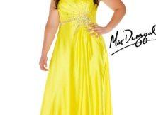 11 Bonitos vestidos de fiesta para gorditas en color amarillo (11)